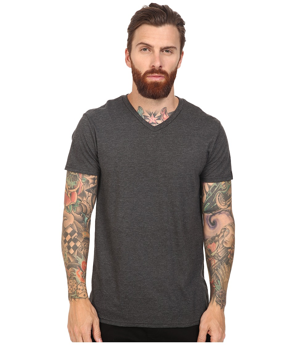 Oakley - V-Neck Tee (Jet Black Heather) Men's T Shirt