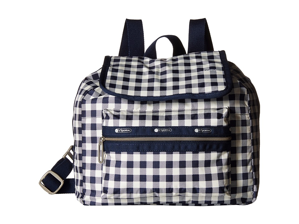 LeSportsac - Mini Voyager (Gingham Classic Navy) Handbags