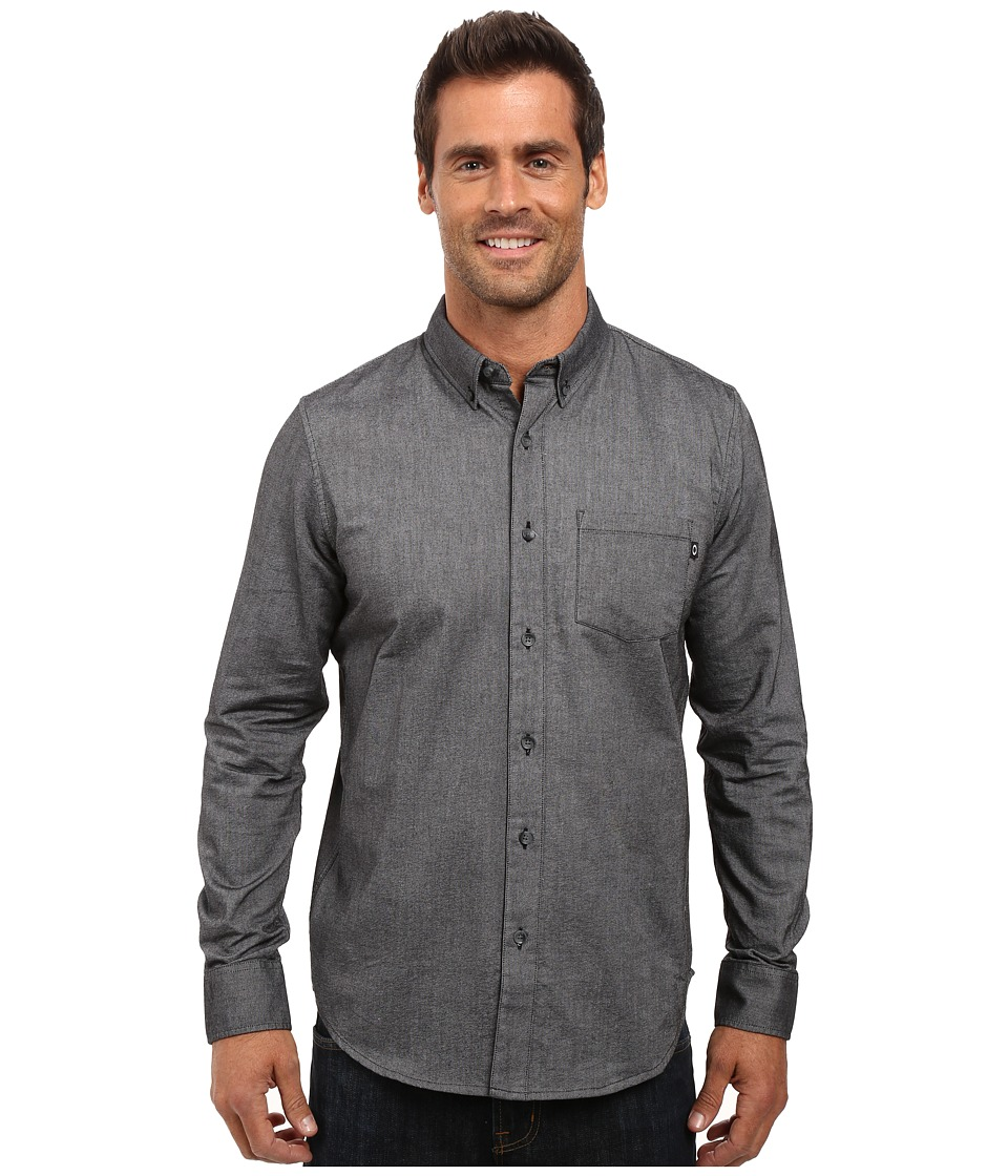Oakley - Irreverent Woven Top (Jet Black) Men's Clothing