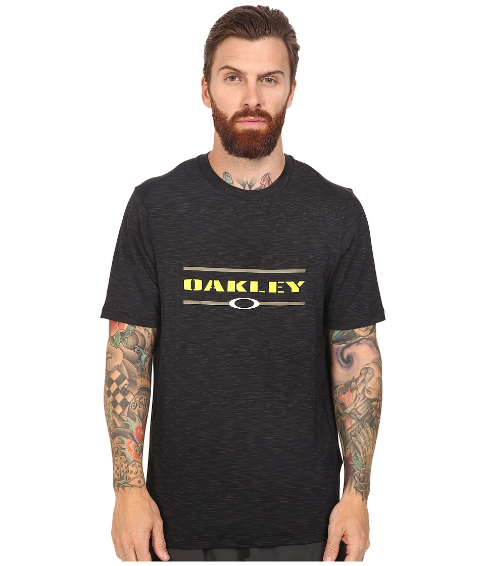 Oakley Melange Short Sleeve Rashguard (Dark Brush) Men
