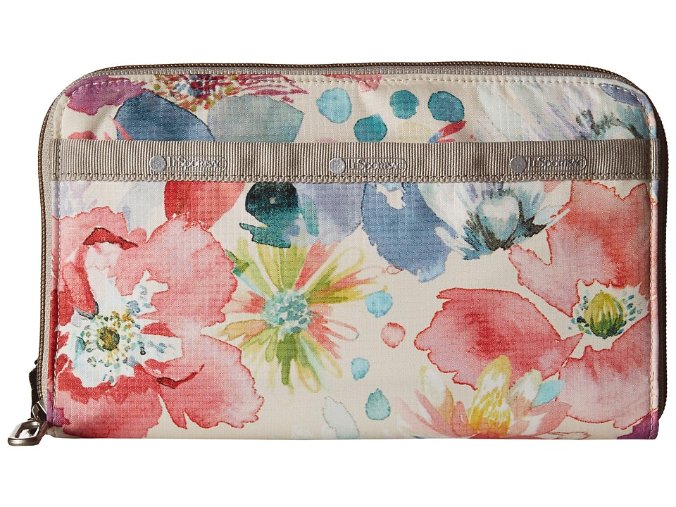 LeSportsac - Everyday Wallet (Waterlily Garden) Wallet Handbags
