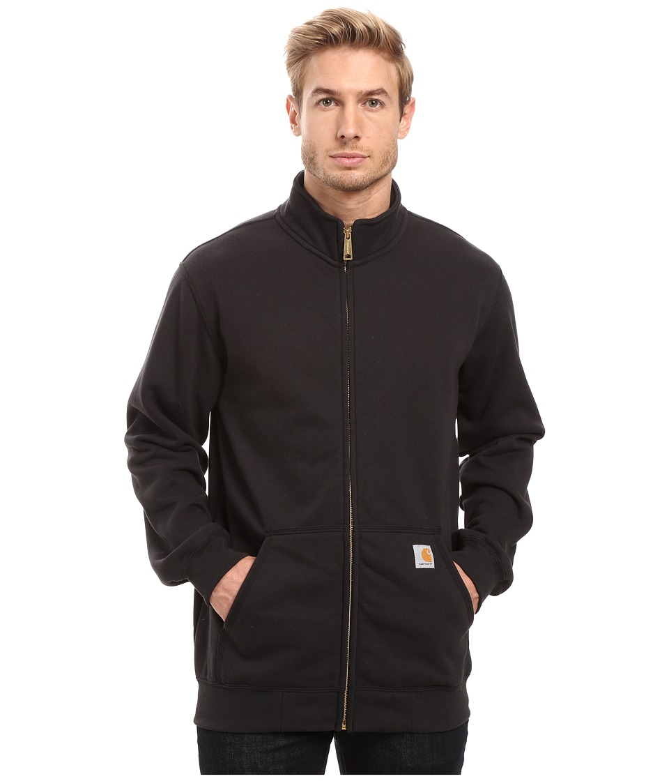 Carhartt - Haughton Midweight Mock Neck Zip Sweatshirt (Black) Men's Sweatshirt