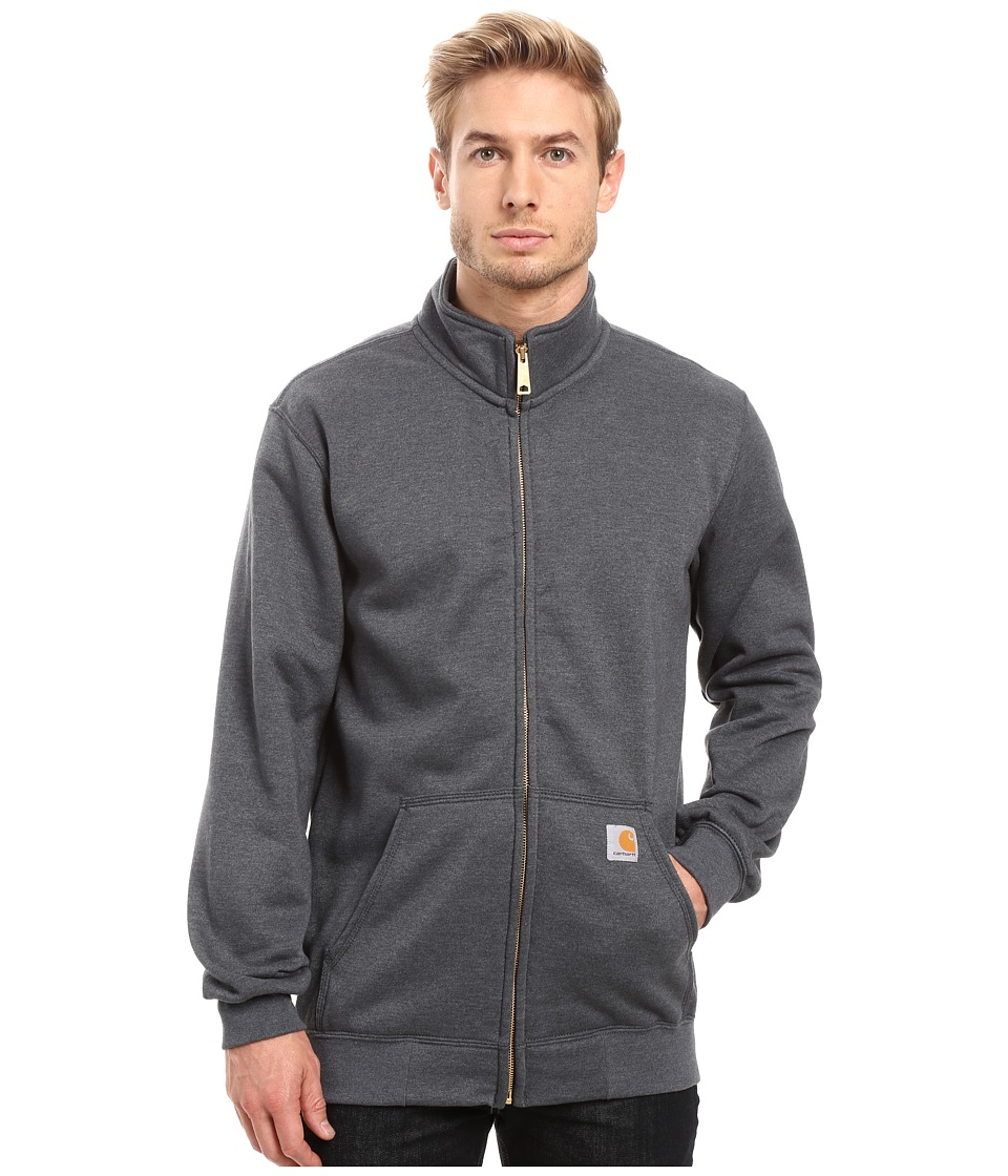 Carhartt - Haughton Midweight Mock Neck Zip Sweatshirt (Charcoal Heather) Men's Sweatshirt