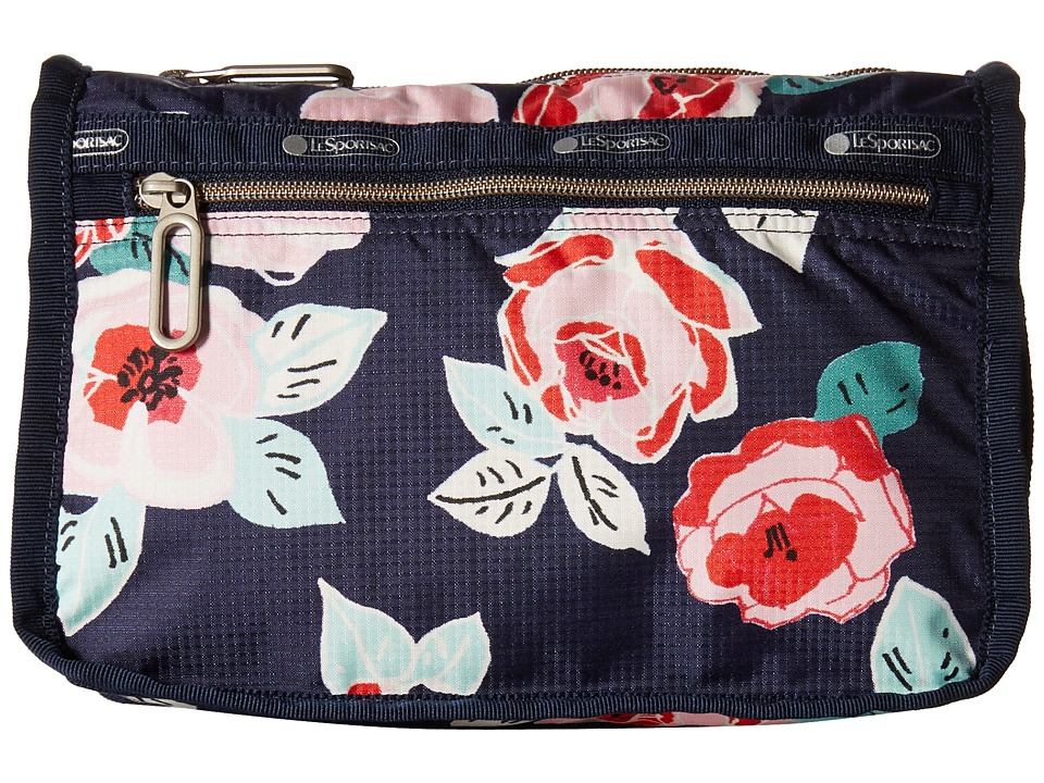 LeSportsac - Everyday Cosmetic Case (Navy Rose) Cosmetic Case