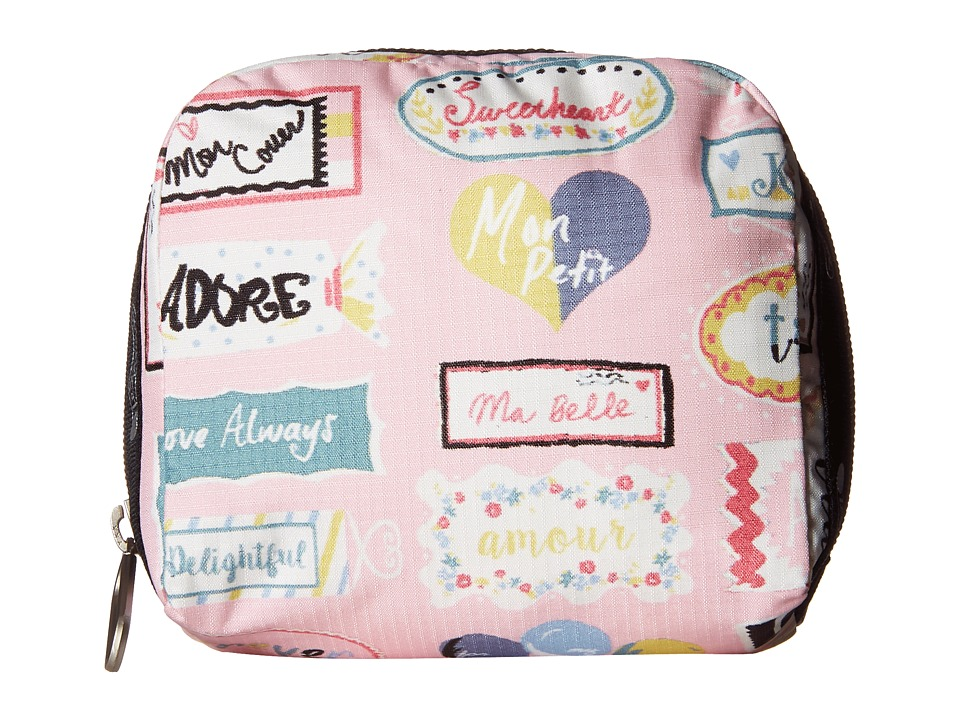 LeSportsac - SQ Essential Cosmetic Case (Sweet Talk Pink) Cosmetic Case