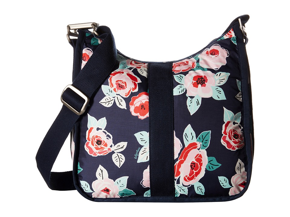 LeSportsac - Weekender Hobo (Navy Rose) Hobo Handbags