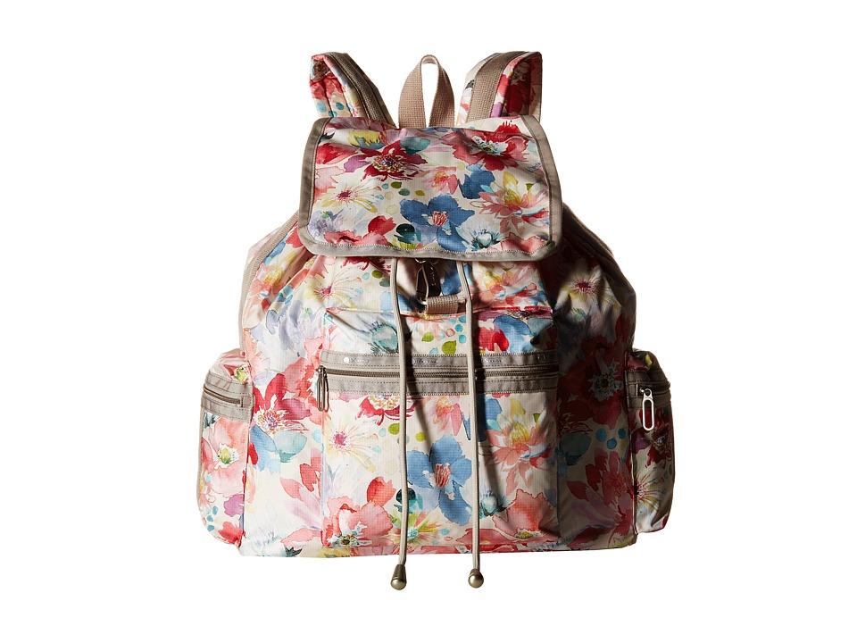 LeSportsac - 3-Zip Voyager (Waterlily Garden) Handbags