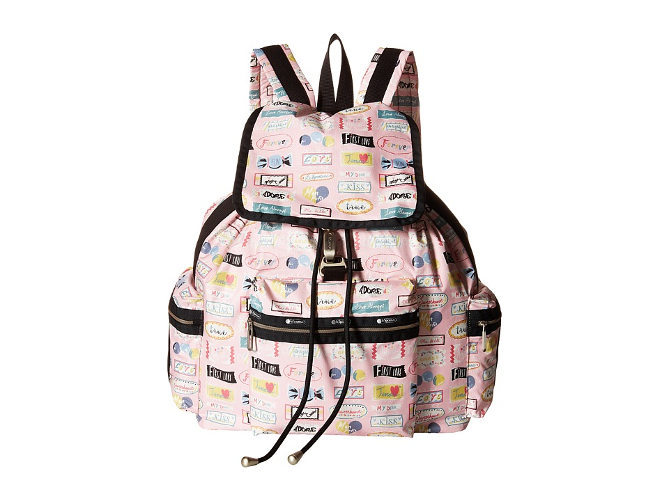 LeSportsac - 3-Zip Voyager (Sweet Talk Pink) Handbags