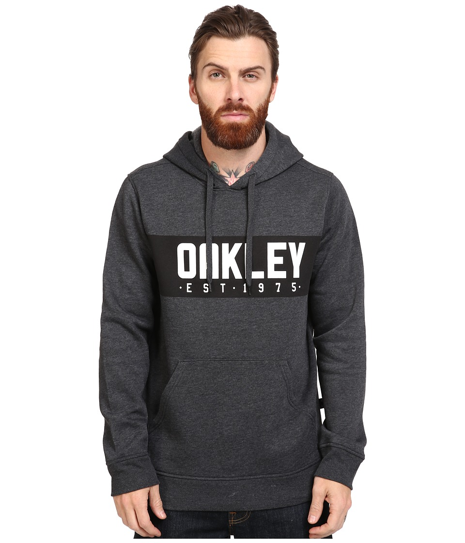 Oakley - Hooded Fleece Pullover (Jet Black Heather) Men's Sweatshirt