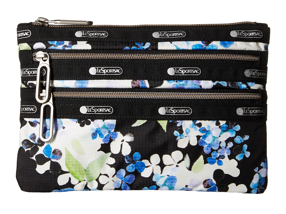 LeSportsac - Classic 3-Zip Pouch (Flower Cluster) Wallet