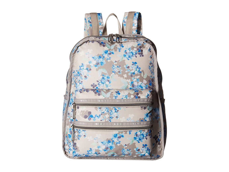 LeSportsac - Functional Backpack (Flower Cluster Khaki) Backpack Bags