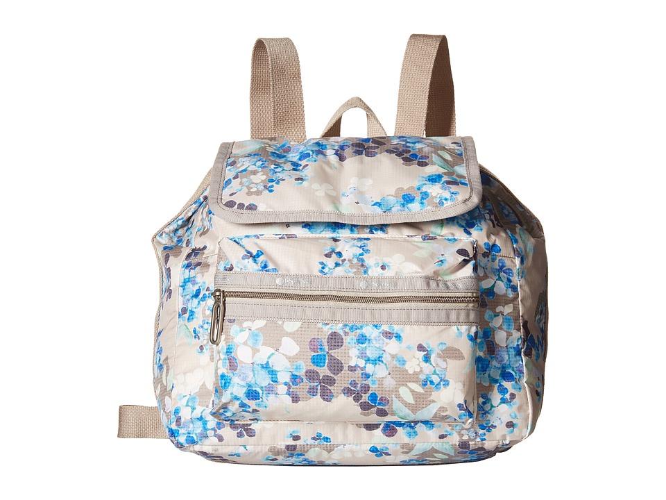 LeSportsac - Mini Voyager (Flower Cluster Khaki) Handbags