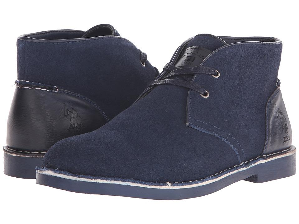 U.S. POLO ASSN. - Bleeker (Navy Suede) Men's Shoes