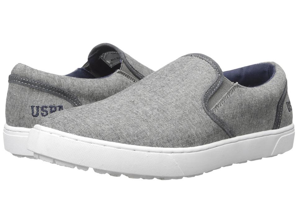 U.S. POLO ASSN. - Crosby Slip-On (Grey Chambray) Men's Slip-on Dress Shoes
