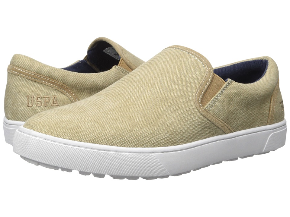U.S. POLO ASSN. - Crosby Slip-On (Natural Canvas) Men's Slip-on Dress Shoes