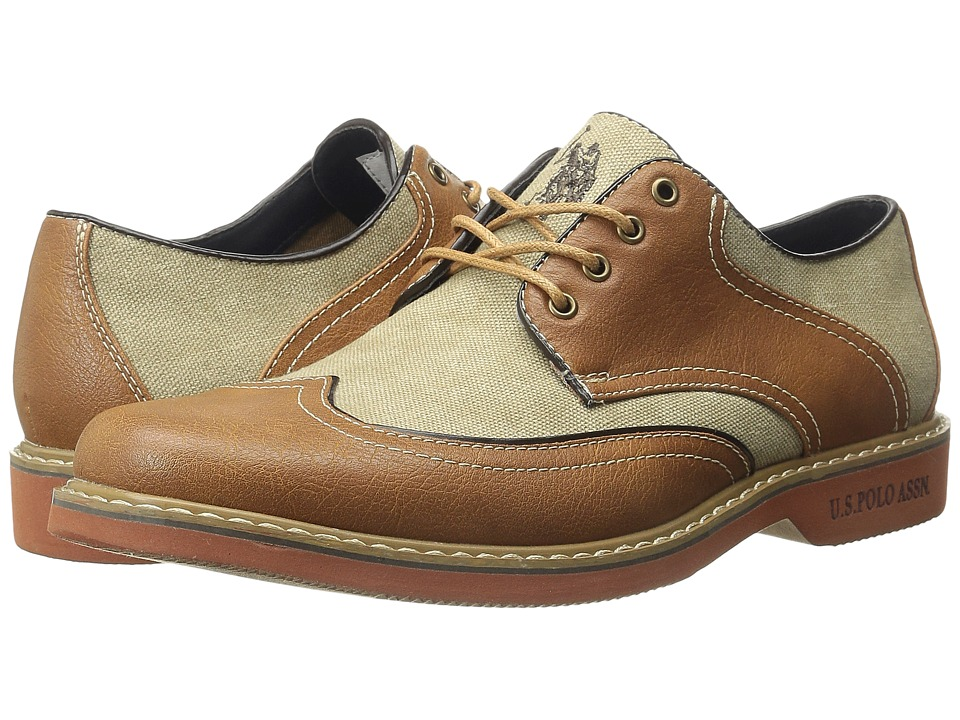 U.S. POLO ASSN. - Clark Wingtip (Tan) Men's Lace Up Wing Tip Shoes
