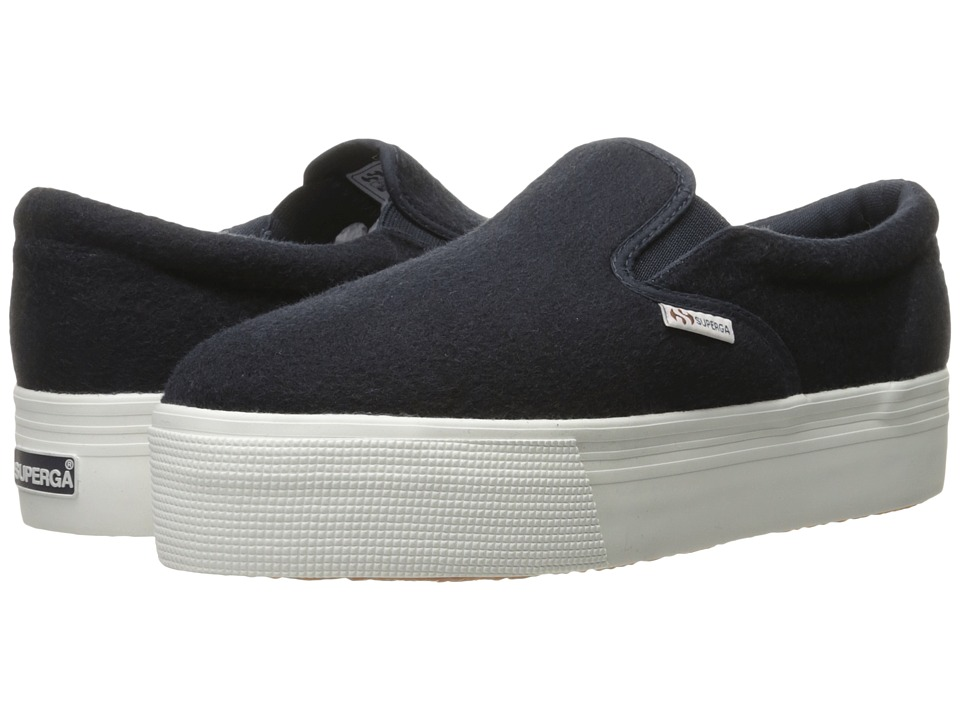Superga - 2314 Polywoolw (Navy) Women's Lace up casual Shoes