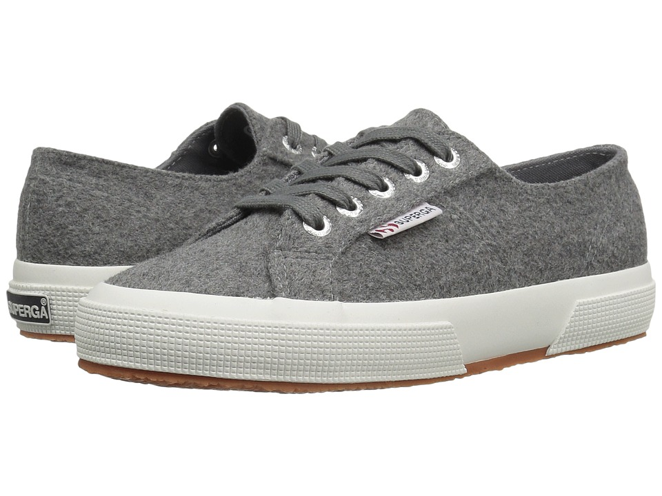 Superga - 2750 Polywoolw (Grey Pearl) Women's Lace up casual Shoes