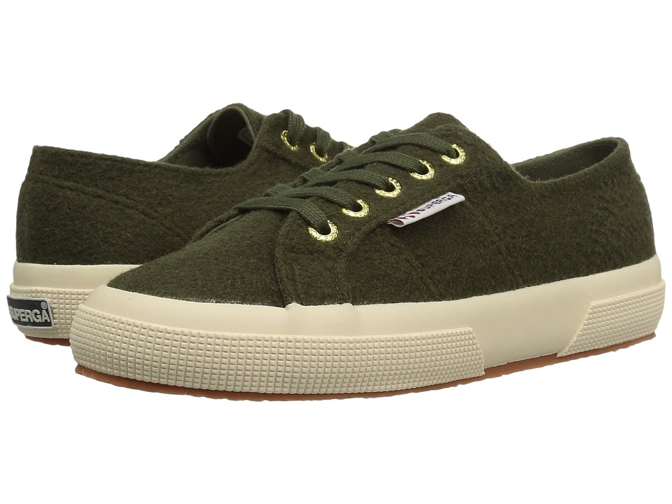 Superga - 2750 Polywoolw (Green Olive) Women's Lace up casual Shoes