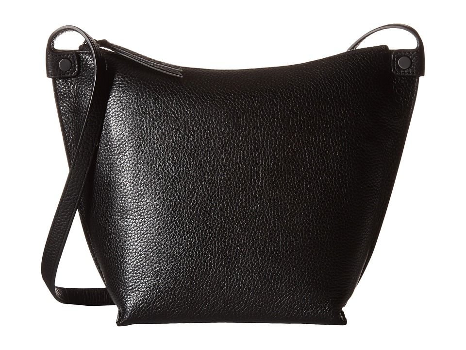 ECCO - Sculptured Crossbody (Black) Cross Body Handbags