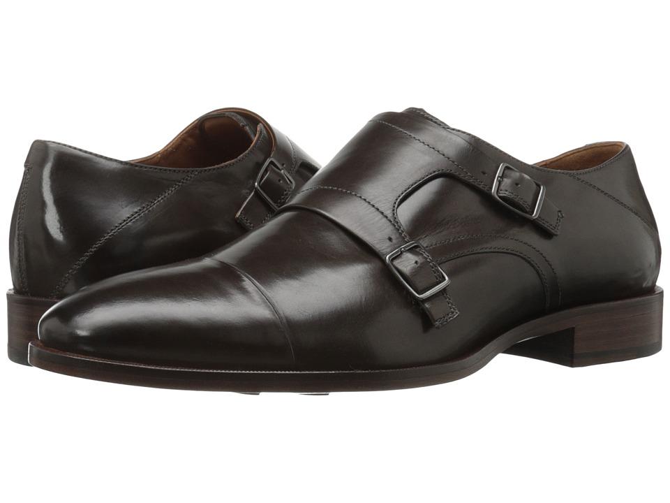 Johnston & Murphy - Nolen Double Buckle (Gray Italian Calfskin) Men's Slip-on Dress Shoes