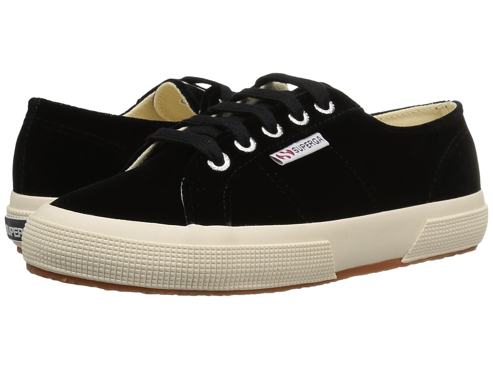 Superga 2750 Velvetw (Black) Women