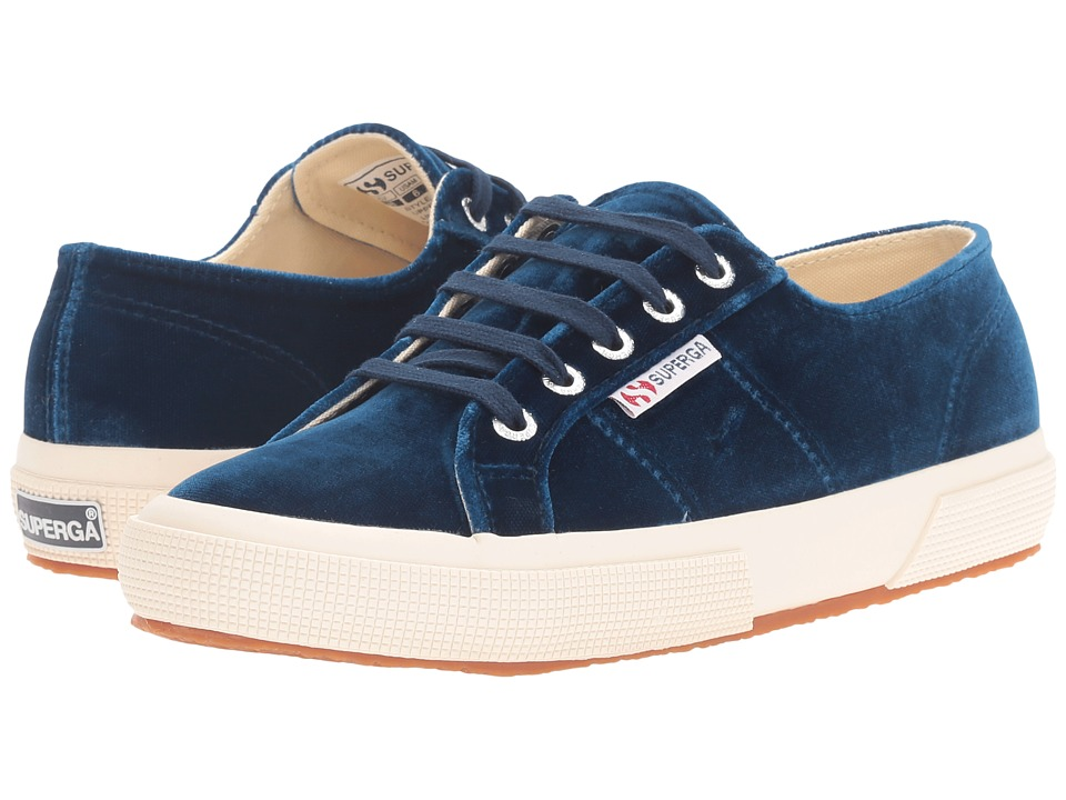 Superga 2750 Velvetw (Blue) Women