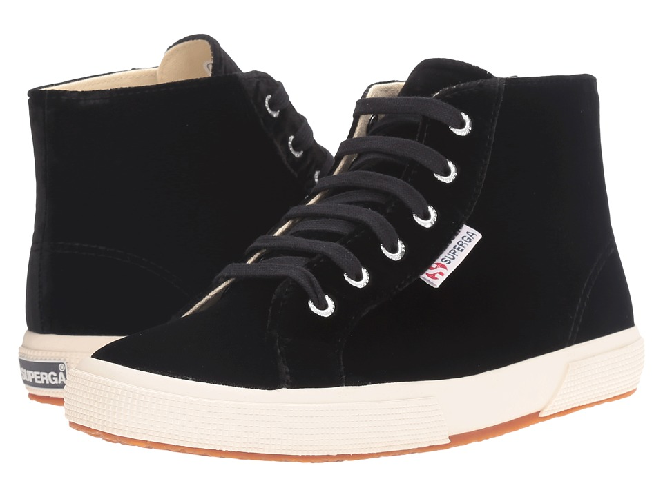 Superga - 2095 Velvetw (Black) Women's Lace up casual Shoes