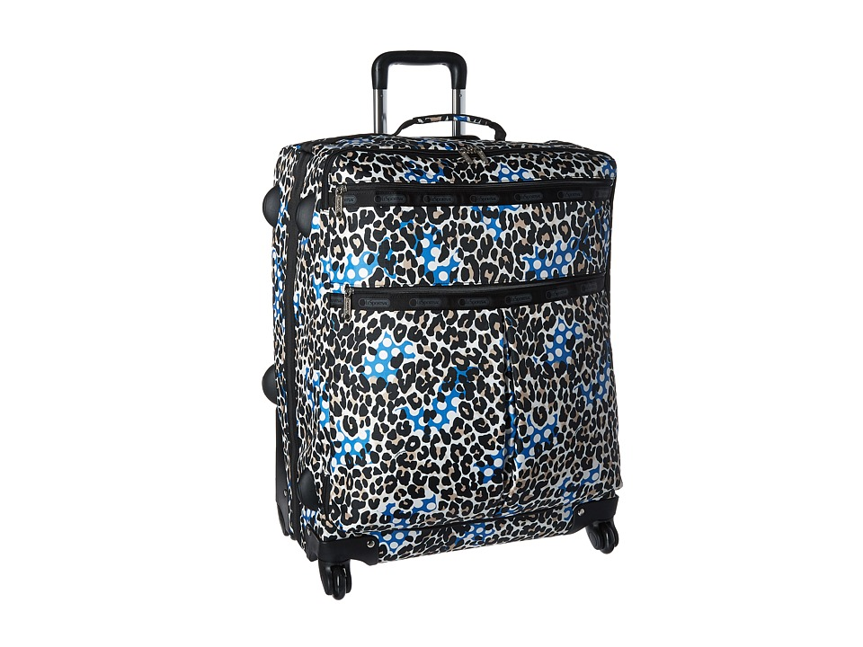 LeSportsac Luggage - 24 Inch 4 Wheel Luggage (Animal Dots) Carry on Luggage