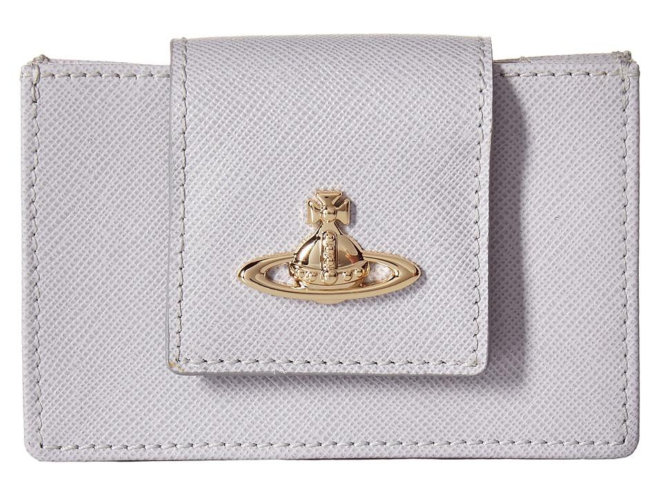 Vivienne Westwood - Opio Saffiano Wallet (Grey) Wallet Handbags