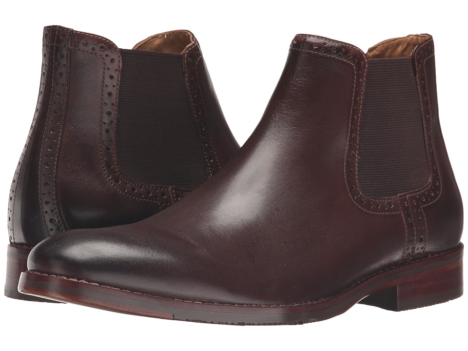 Johnston & Murphy Garner Gore Boot (Mahogany Calfskin) Men