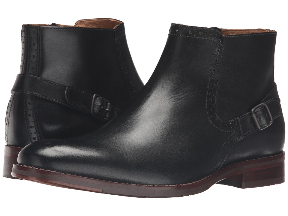 Johnston & Murphy Garner Zip Boot (Black Calfskin) Men