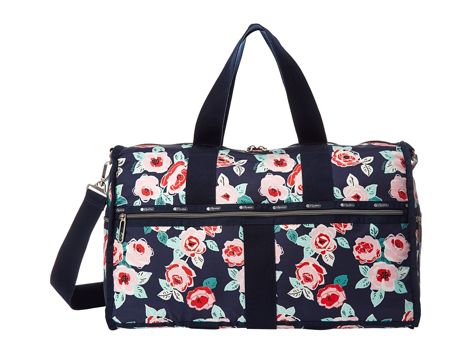 LeSportsac Luggage - CR Large Weekender (Navy Rose) Weekender/Overnight Luggage