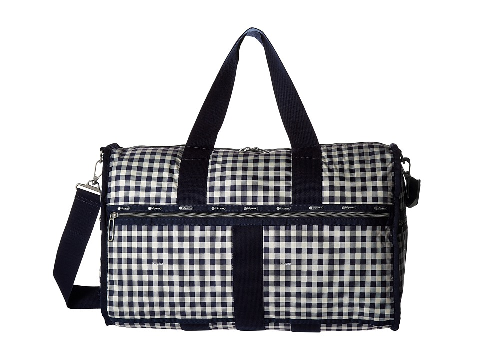 LeSportsac Luggage - CR Large Weekender (Gingham Classic Navy) Weekender/Overnight Luggage