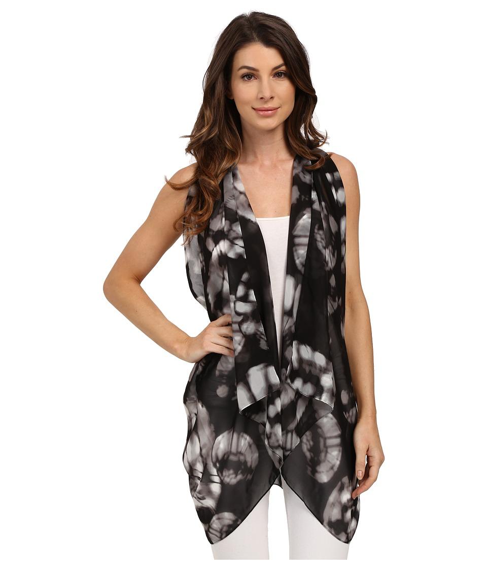 Calvin Klein - Tie-Dye Convertible Scarf Vest (Black) Scarves