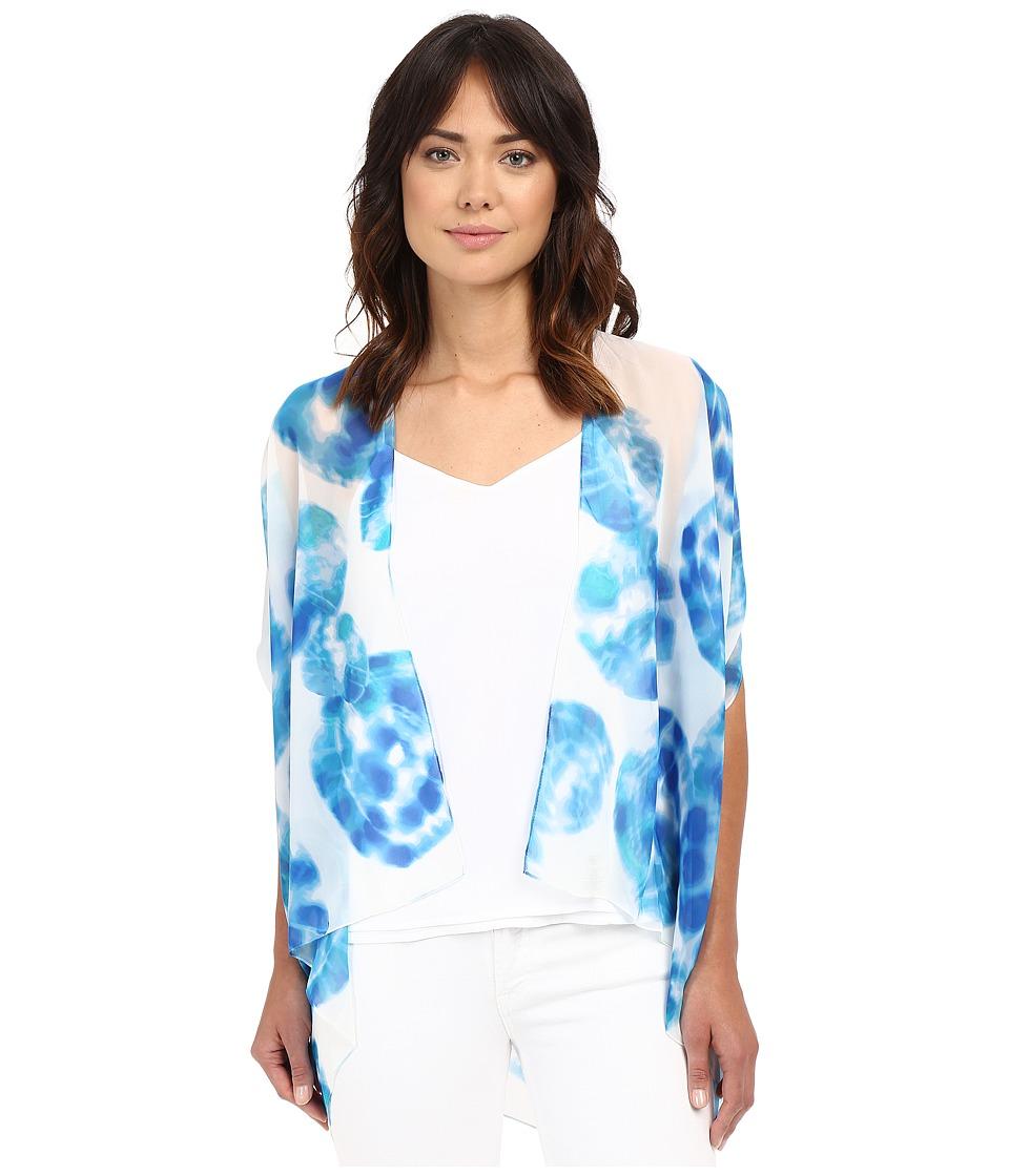 Calvin Klein - Tie-Dye Convertible Scarf Vest (Adriatic) Scarves