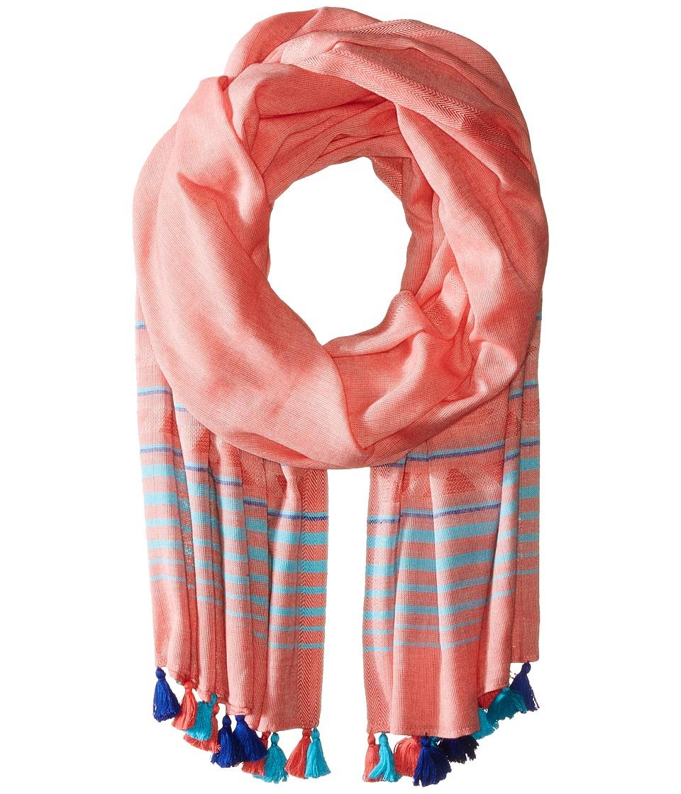 Calvin Klein - Desert Border Tassel Scarf (Porcelain Rose) Scarves
