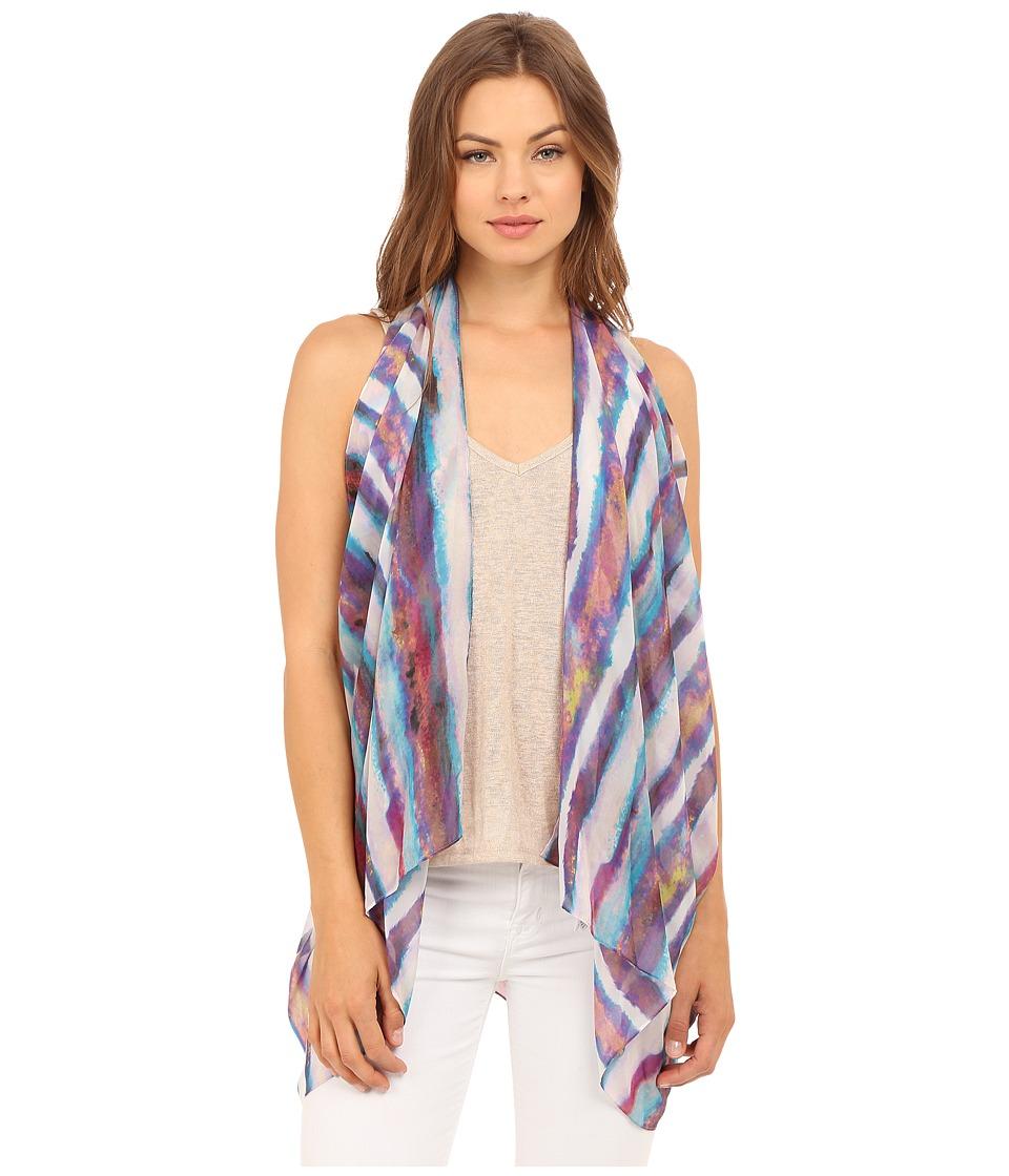 Calvin Klein - Desert Stripe Convertible Scarf Vest (Vivid) Scarves