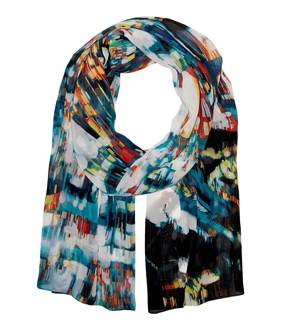 Calvin Klein - City View Chiffon Scarf (Rouge Multi) Scarves