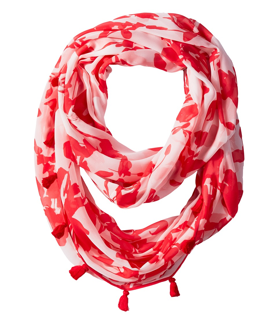 Calvin Klein - Inked Floral Infinity Scarf (Watermelon) Scarves