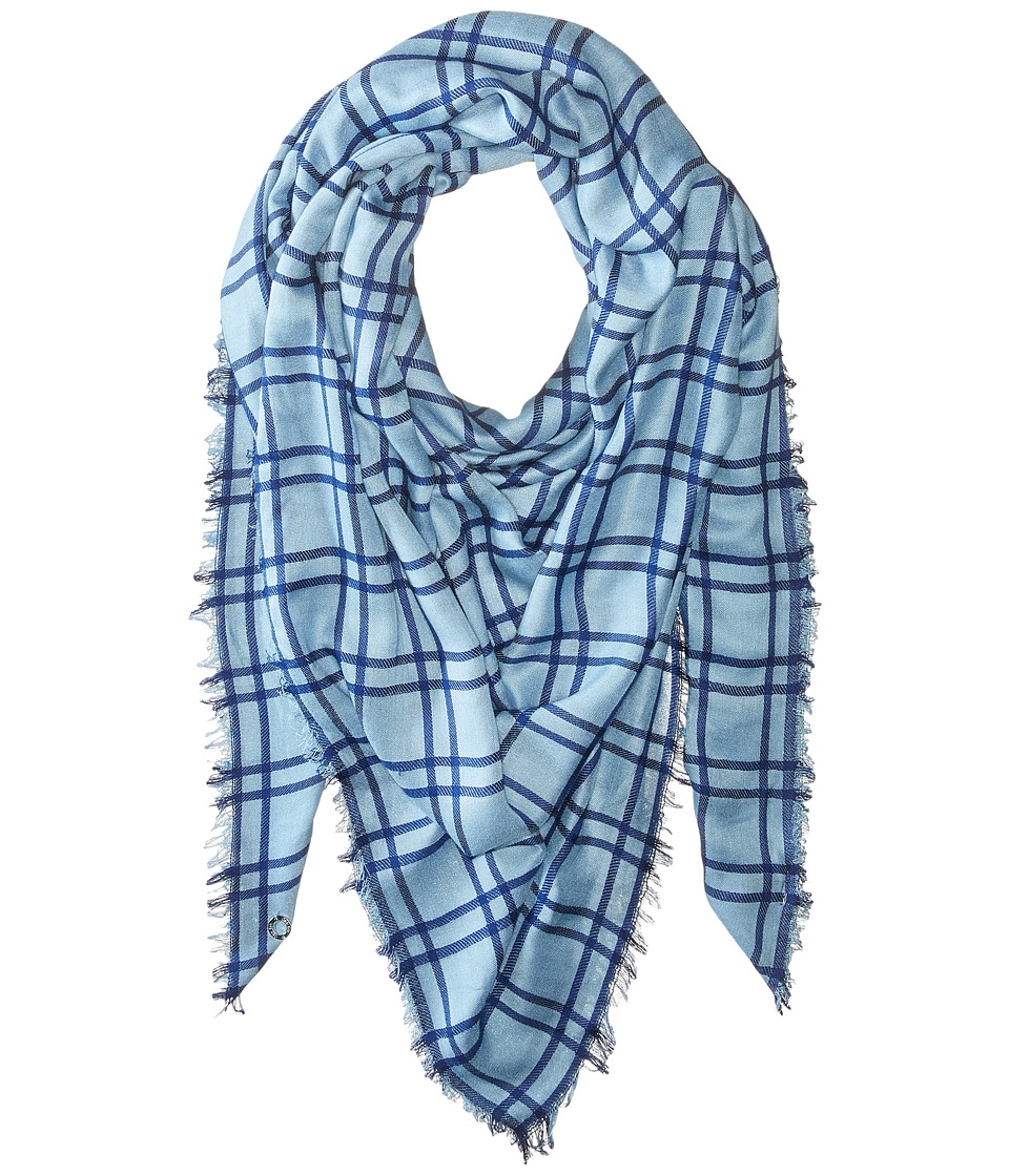 Calvin Klein - Square Blanket (Blue) Scarves