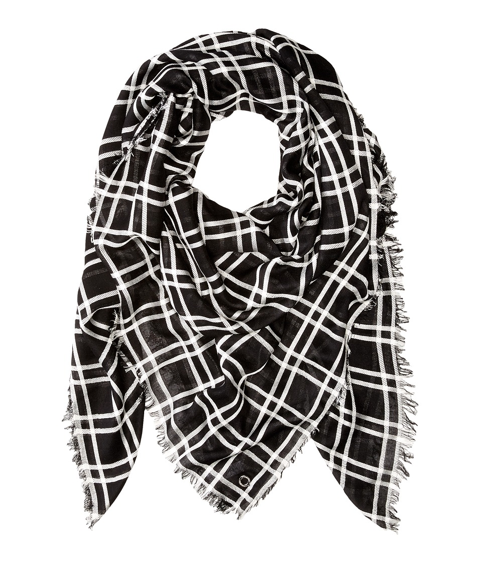 Calvin Klein - Square Blanket (Black) Scarves