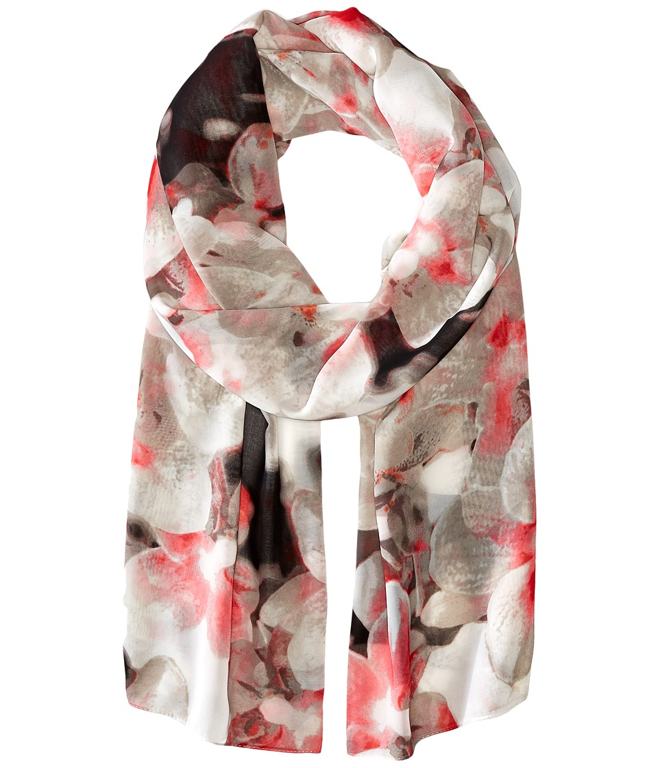 Calvin Klein - Orchid Chiffon Scarf (Rouge) Scarves