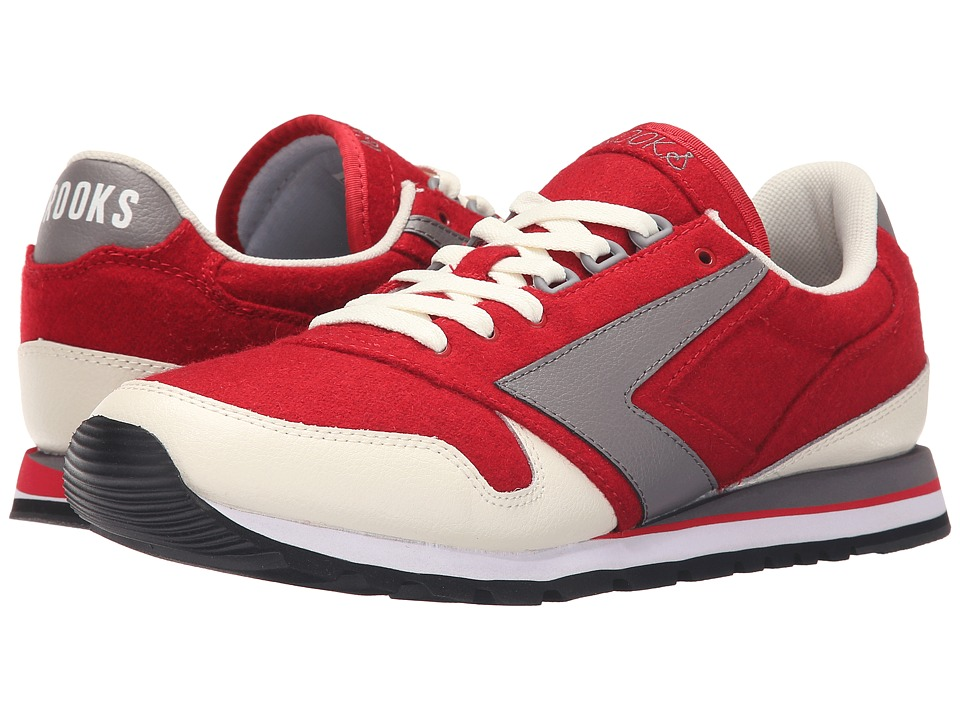 Brooks Heritage - Chariot (Cream/True Red/Storm Grey) Men's Shoes