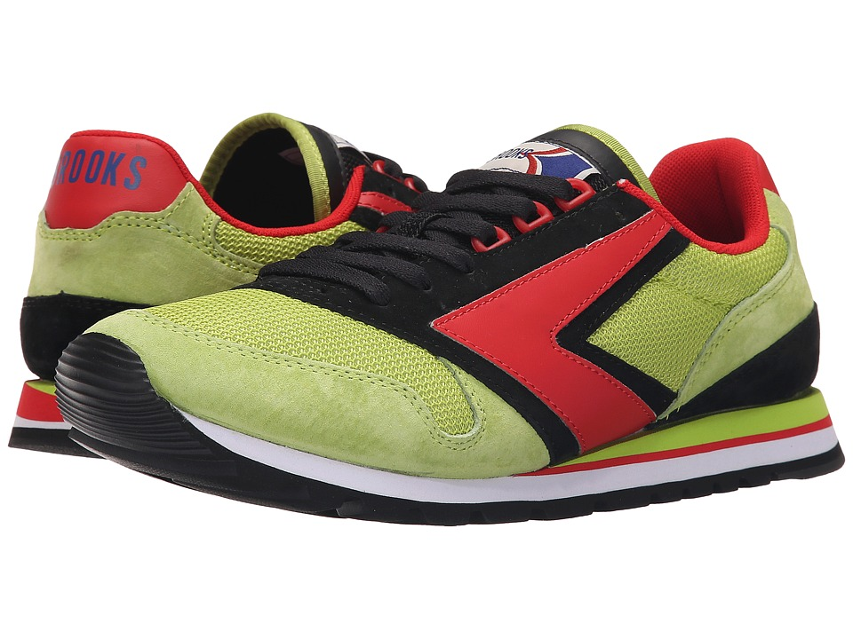 Brooks Heritage - Chariot (Lime Green/Black/High Risk Red) Men's Shoes