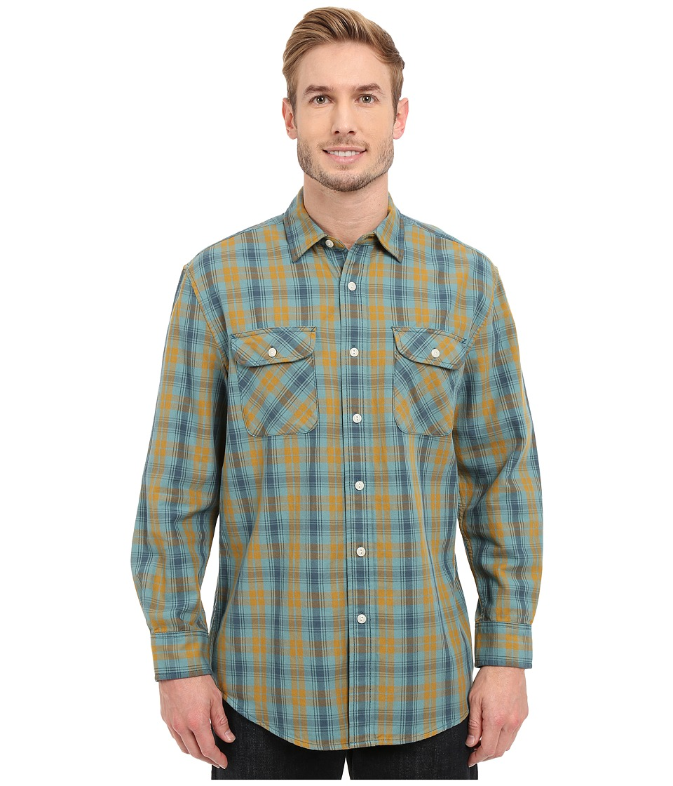 Pendleton - L/S Beach Shack Twill Shirt (Teal) Men's Long Sleeve Button Up