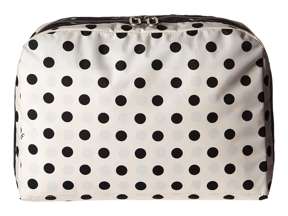LeSportsac Luggage XL Essential Cosmetic (Sunshine Dot Cream) Cosmetic Case