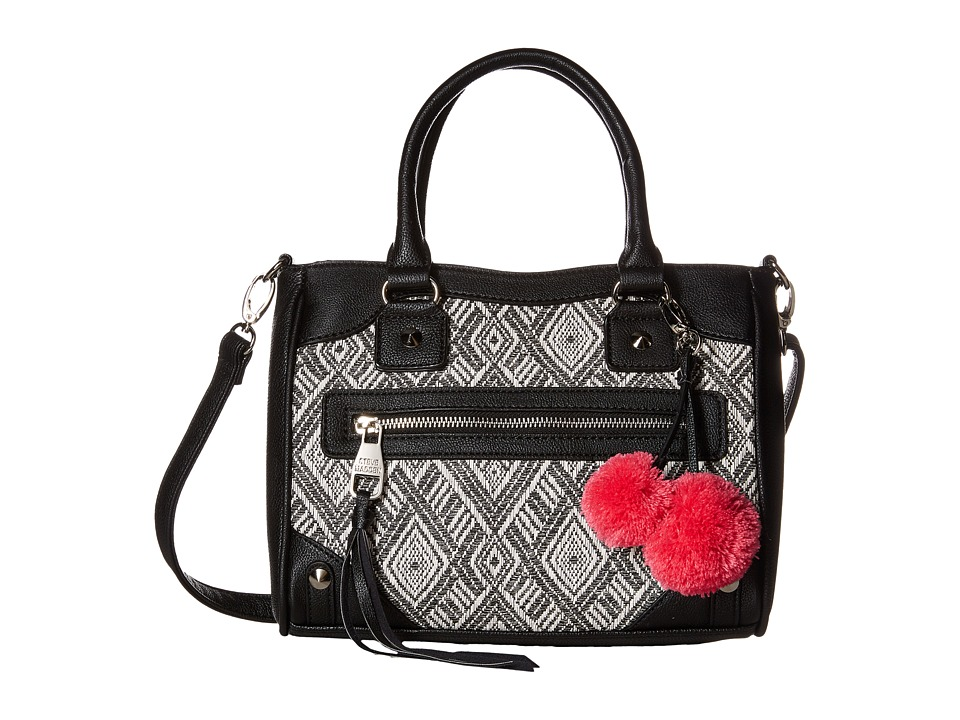 Steve Madden - Mini Orla Print (Black/Fuchsia) Satchel Handbags