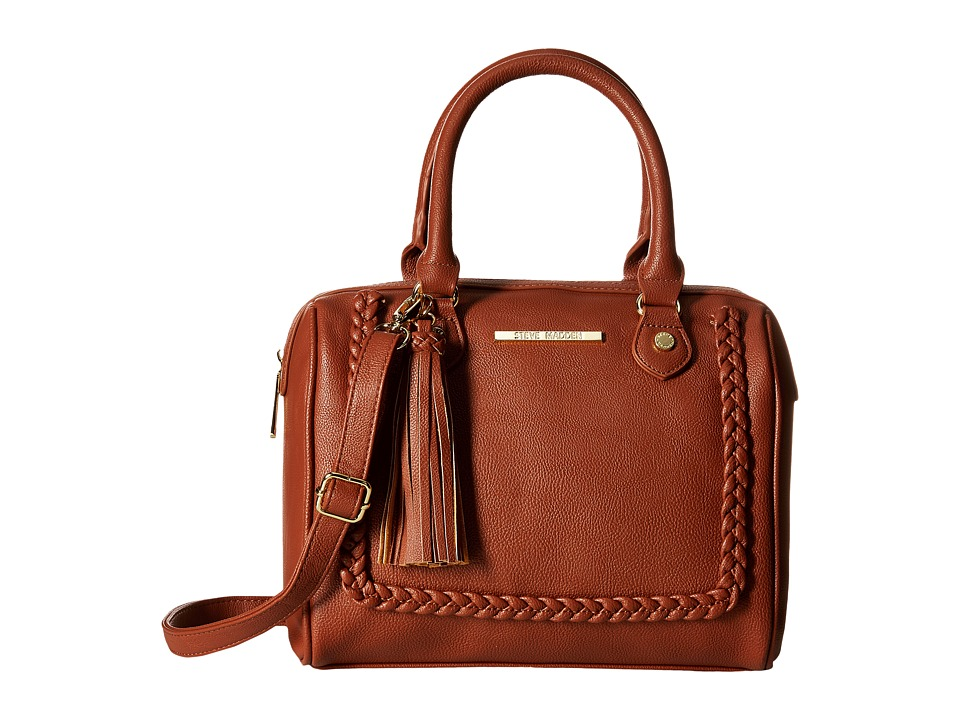 Steve Madden - Mini Jessa Braid (Cognac) Satchel Handbags