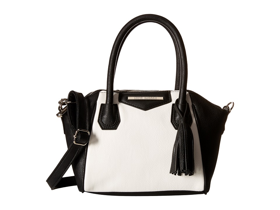 Steve Madden - Mini Baja Stripe Tassel (White/Black) Handbags